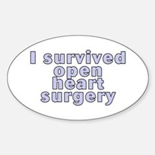 Open heart surgery - Sticker (Oval)