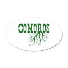 Comoros Roots Oval Car Magnet