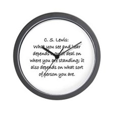 C.S. LEWIS QUOTE Wall Clock