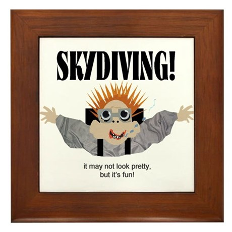 Skydiving Framed Tile