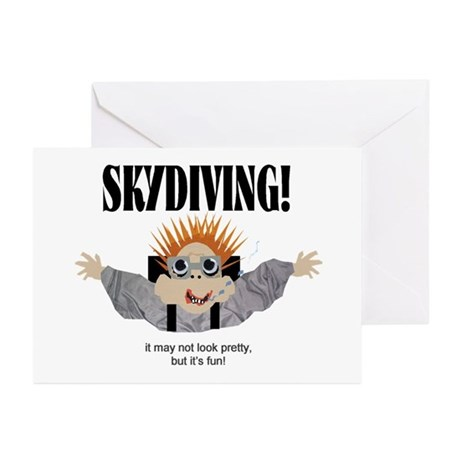 Skydiving Greeting Cards (Pk of 10)