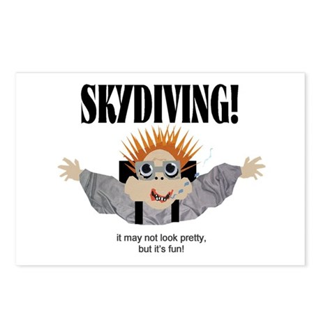 Skydiving Postcards (Package of 8)