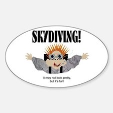 Skydiving Oval Decal