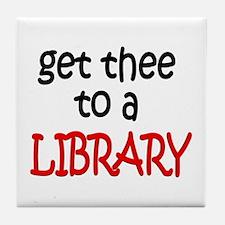 Library Tile Coaster