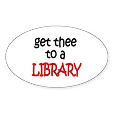 Library Oval Decal