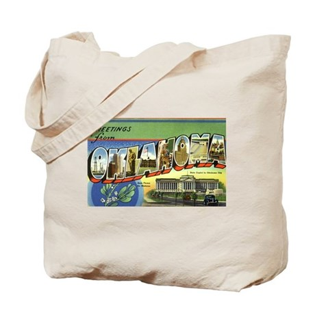 Greetings from Oklahoma Tote Bag