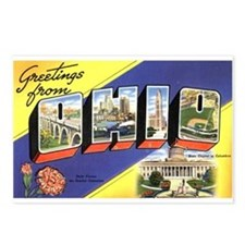 Greetings from Ohio Postcards (Package of 8)