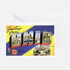 Greetings from Ohio Greeting Cards (Pk of 10)