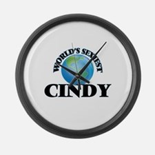 World's Sexiest Cindy Large Wall Clock