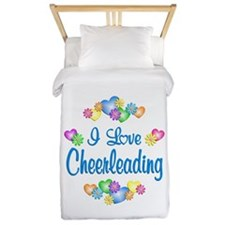 I Love Cheerleading Twin Duvet