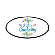 I Love Cheerleading Patches