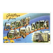 Greetings from North Carolina Postcards (Package o