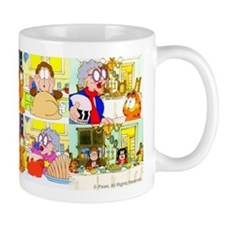Garfield's Thanksgiving Mugs