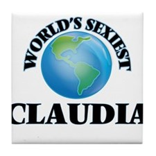 World's Sexiest Claudia Tile Coaster