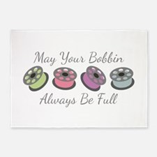 May Your Bobbin Always Be Full 5'x7'Area Rug