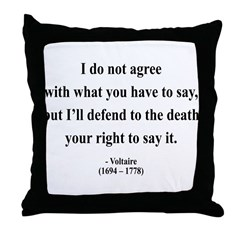 Voltaire 1 Throw Pillow