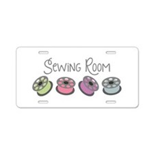 Sewing Room Aluminum License Plate