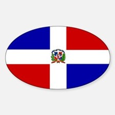 Dominican Flag Oval Decal