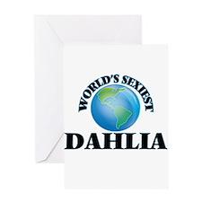 World's Sexiest Dahlia Greeting Cards