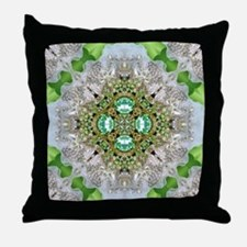green  diamond bling  Throw Pillow
