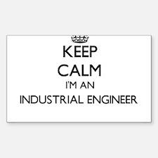 Keep calm I'm an Industrial Engineer Decal
