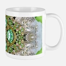 green diamond bling Mugs