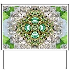 green diamond bling Yard Sign