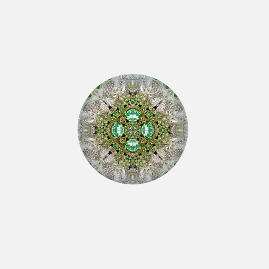 green diamond bling Mini Button