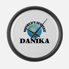 World's Sexiest Danika Large Wall Clock