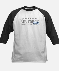 Proud Air Force Wife 2 (Blue) Tee