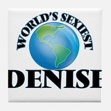 World's Sexiest Denise Tile Coaster