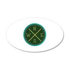 Compass North Wall Decal