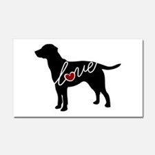 Labrador Love Car Magnet 20 x 12