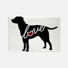 Labrador Love Rectangle Magnet