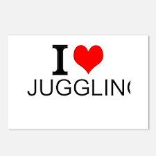 I Love Juggling Postcards (Package of 8)