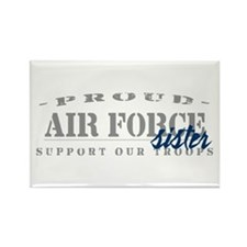 Proud Air Force Sister (Blue) Rectangle Magnet