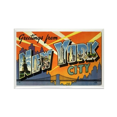Greetings from NYC Rectangle Magnet (100 pack)