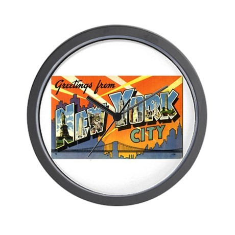 Greetings from NYC Wall Clock