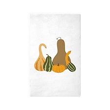 Autumn Gourds 3'x5' Area Rug