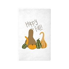 Happy Fall! 3'x5' Area Rug