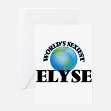 World's Sexiest Elyse Greeting Cards
