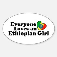 Everyone Loves an Ethiopian Girl Oval Decal
