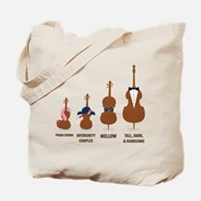 Funny Orchestra String Instruments Tote Bag