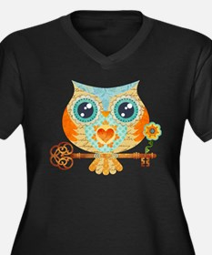Owls Summer Love Letters Plus Size T-Shirt