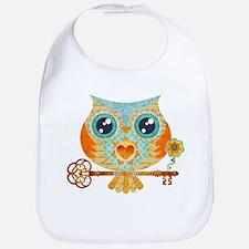 Owls Summer Love Letters Bib