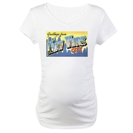 Greetings from NYC Maternity T-Shirt