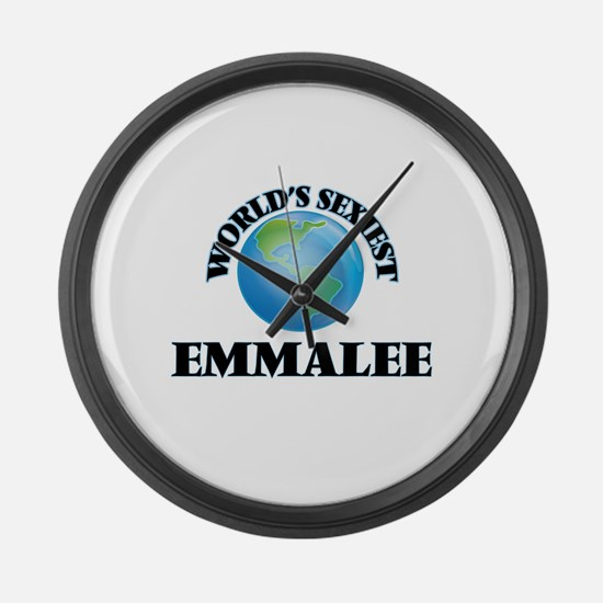 World's Sexiest Emmalee Large Wall Clock