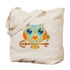Owls Summer Love Letters Tote Bag