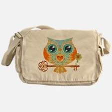 Owls Summer Love Letters Messenger Bag