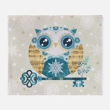 Winter Wonderland Owl Throw Blanket